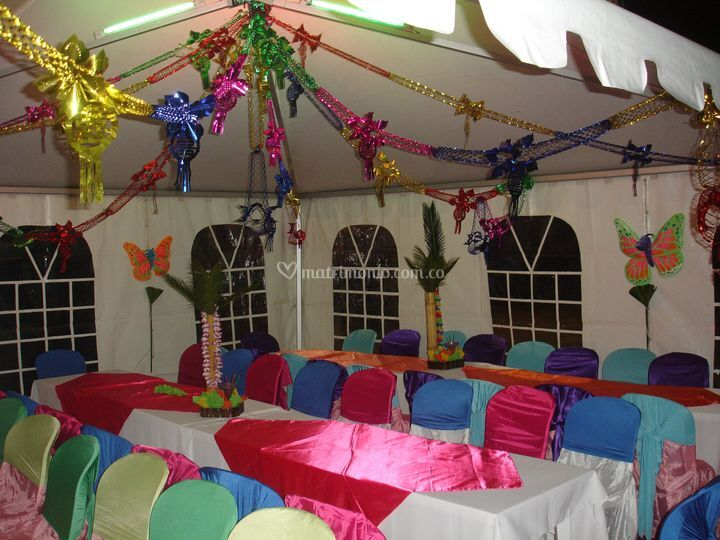 Decoración con carpas