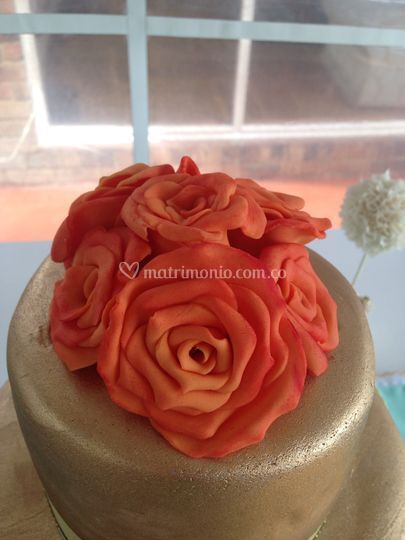 Detalle rosas de azucar