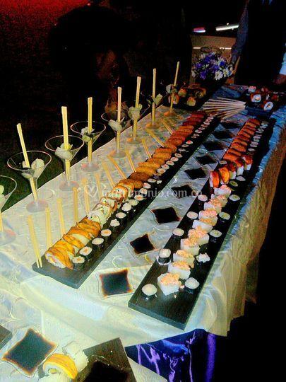 Sushi y croquetas