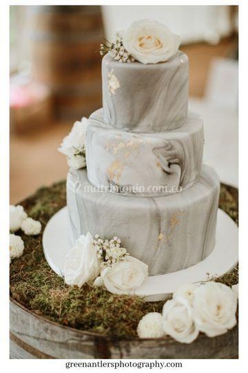Torta efecto marmoleado