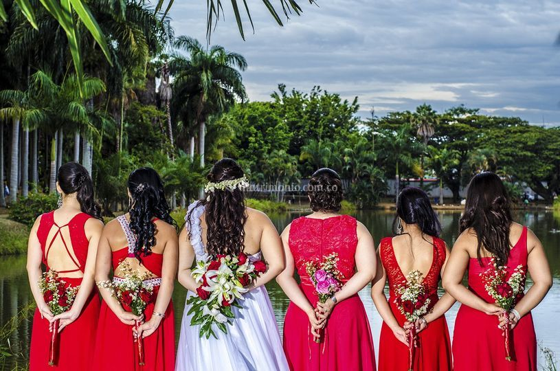 La novia y su corte