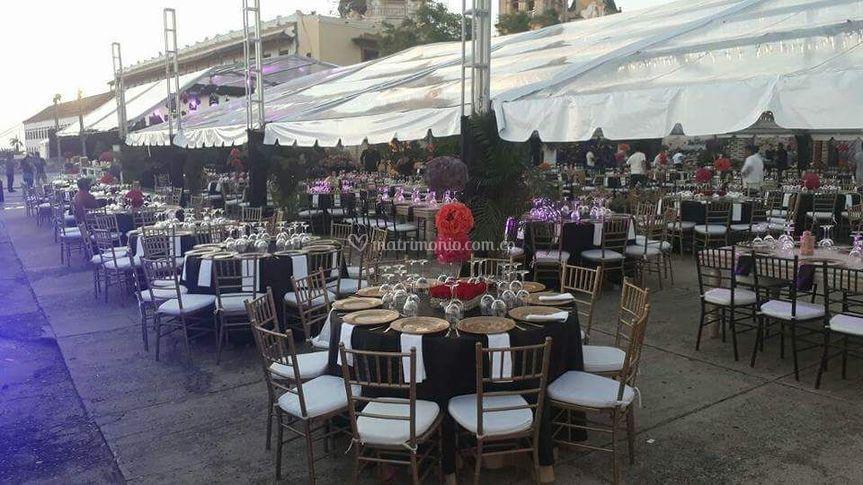 Carpas bodas Cali Transparente