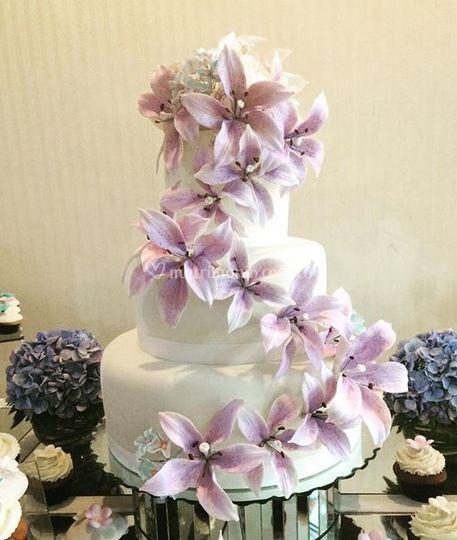 Cake boda de Flores