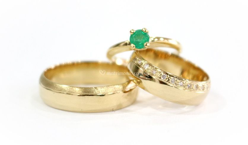 Set oro amarillo 18k