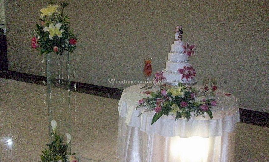 Mesa de pastel decorada