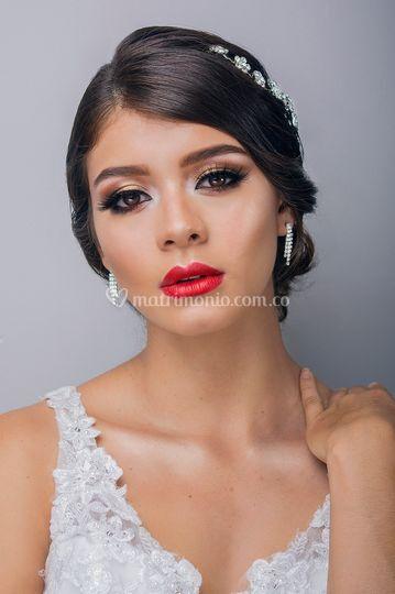 Maquillaje novia arriesgada