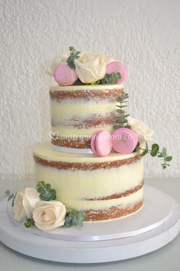 Naked cake boda 40 porciones