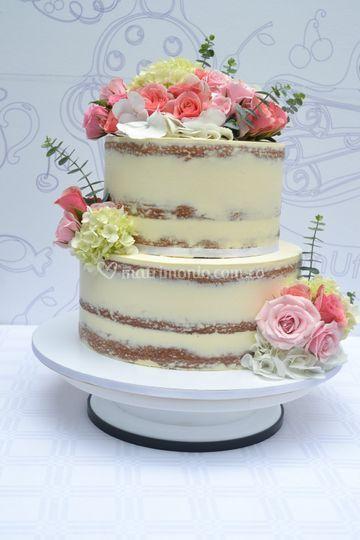 Naked cake boda 50 porciones