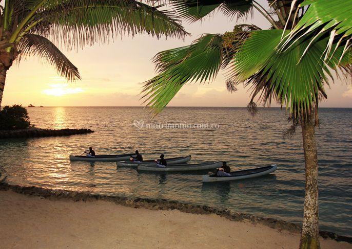 Playa privada para disfrutar