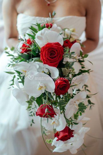 Bouquet en cascada