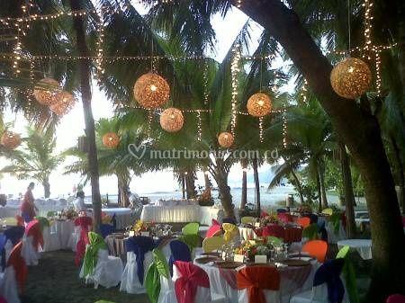 Montaje boda playa