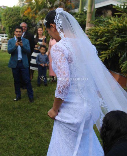 Vestido de novia corte sirena