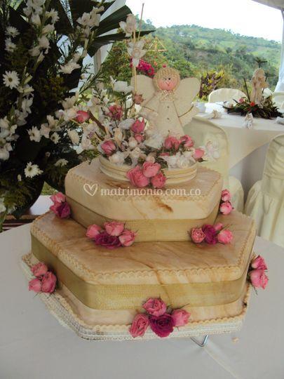 Arreglo floralpar torta