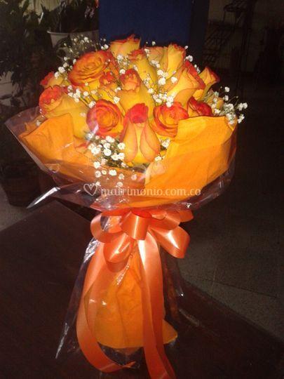 Rosas engalanadas de agradecim