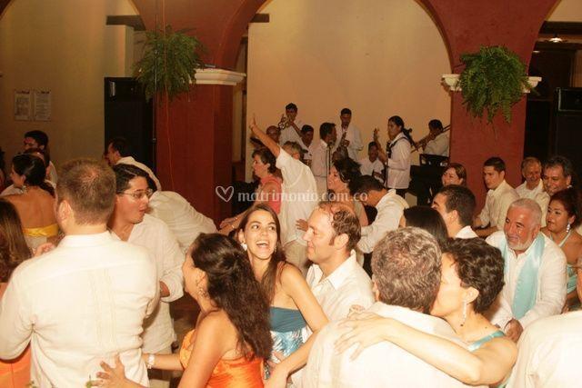 En la fiesta