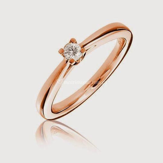 Oro rosado y diamante
