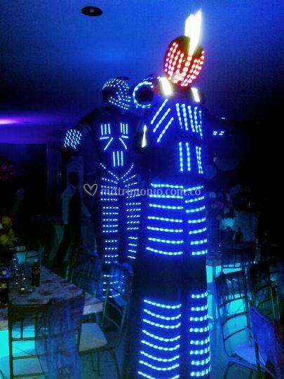 Robot LED zanquero
