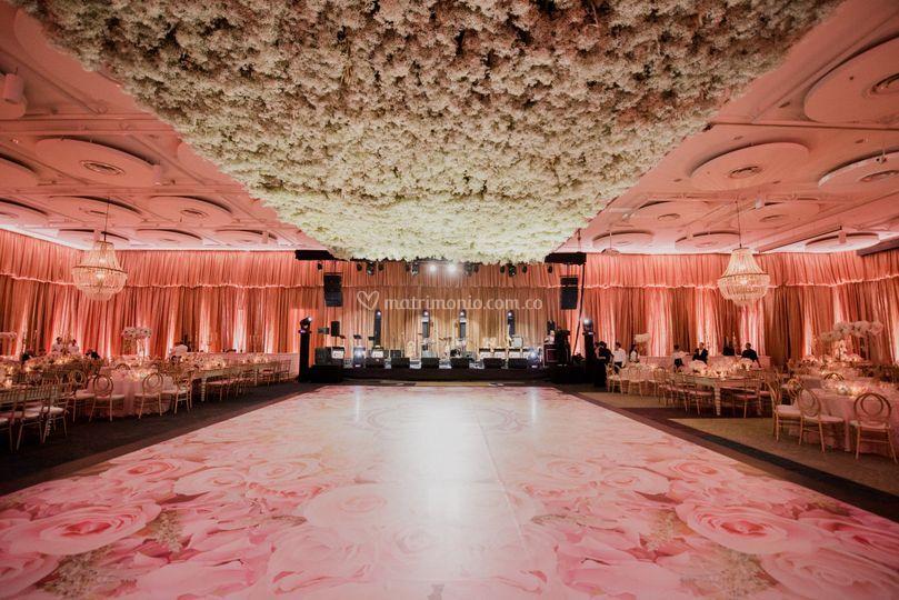Montaje interior de bodas