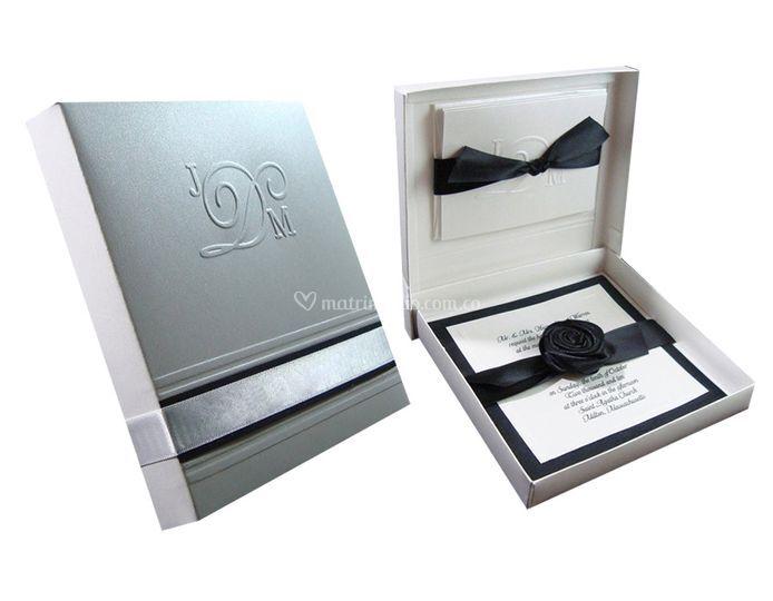 Tarjeta de matrimonio caja