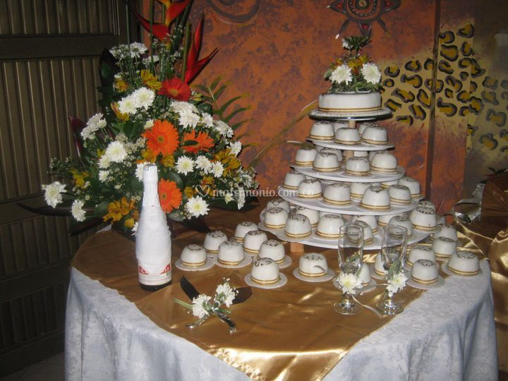 Torta en cup cakes