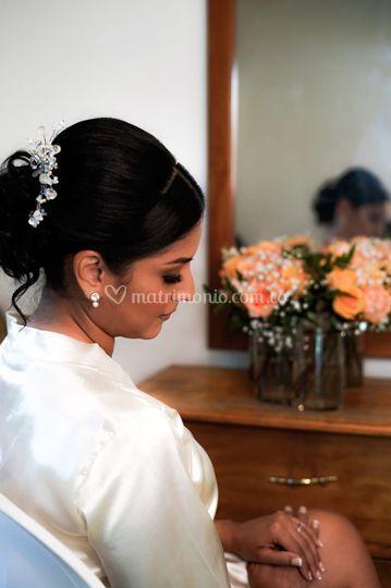 Peinado estilo español novia