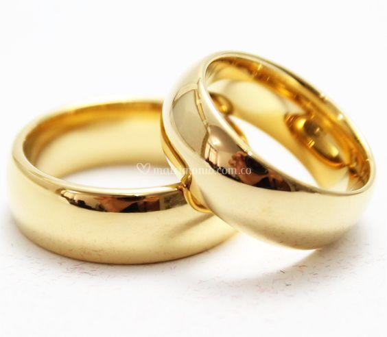 En oro blanco o amarillo