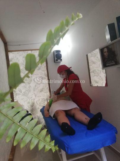 Masaje a novia