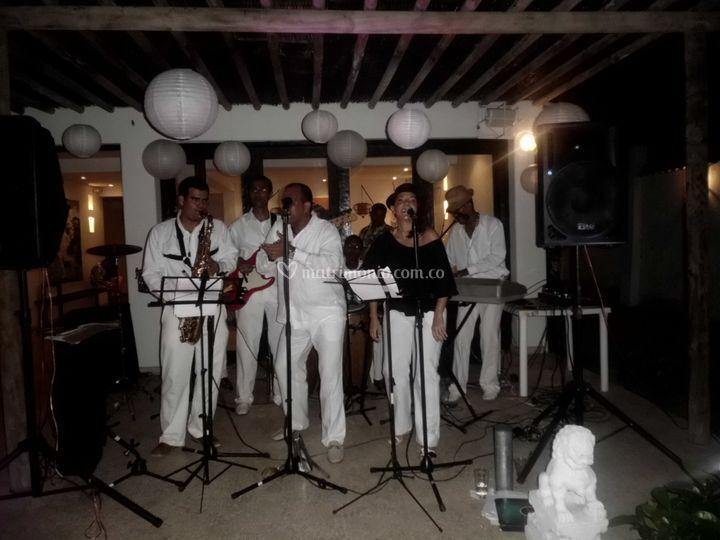 Orquesta Barú con 7 músicos
