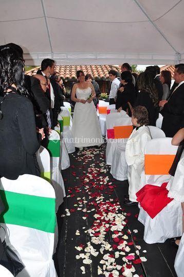 Ceremonia en el muelle