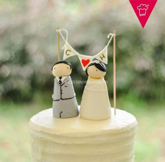 Pastel de boda glaseado