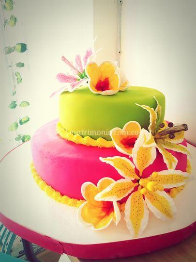 Torta fiesta hawaiana