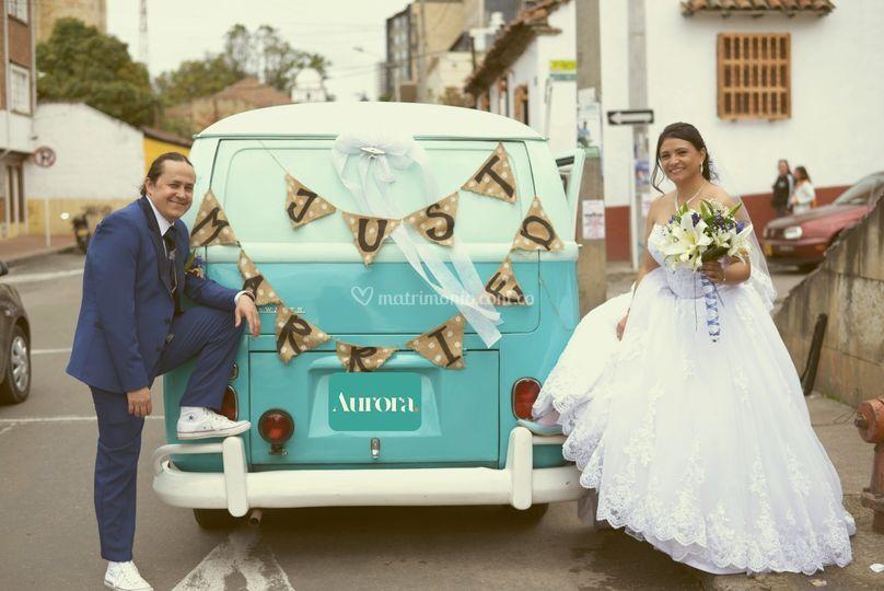 Recién casados Jenny y John