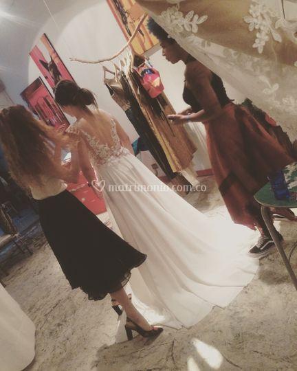 La novia y la diseñadora