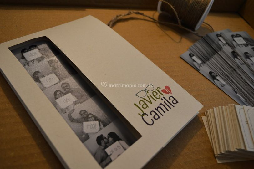 Tarjeta Camila y Javier