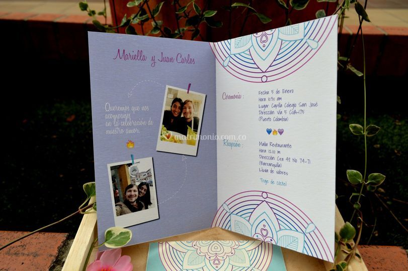 Tarjeta Mariella y Juan Carlos
