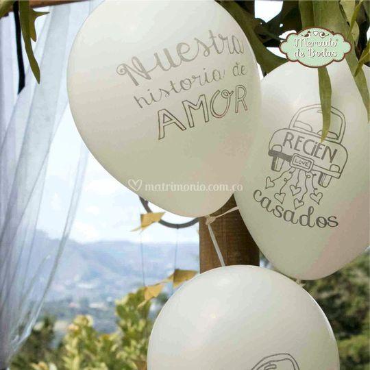 Globos de boda