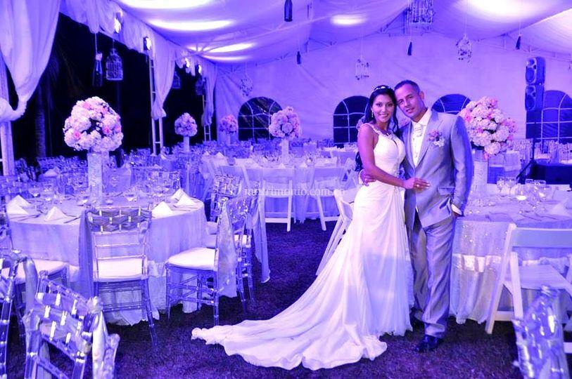 Diseño de boda romántico