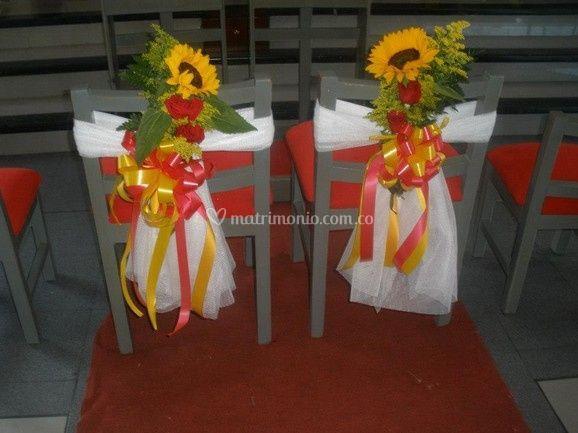 Decoración de las sillas