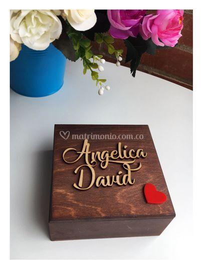 Caja de argollas chocolate