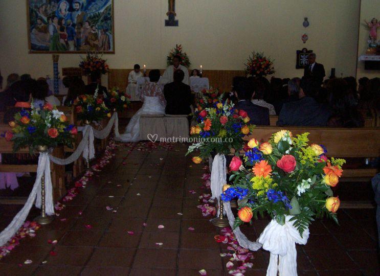 Decoración capilla campestre