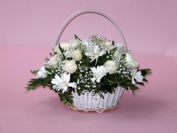 Cesta floral pajecita