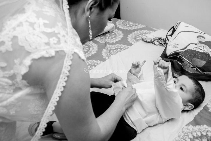 Una mamita a punto de casarse