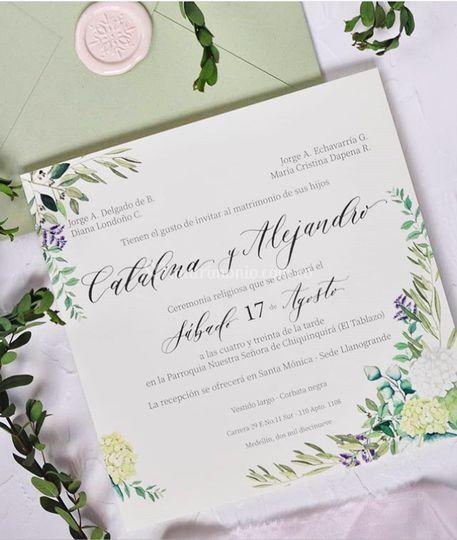 Invitación hortensias