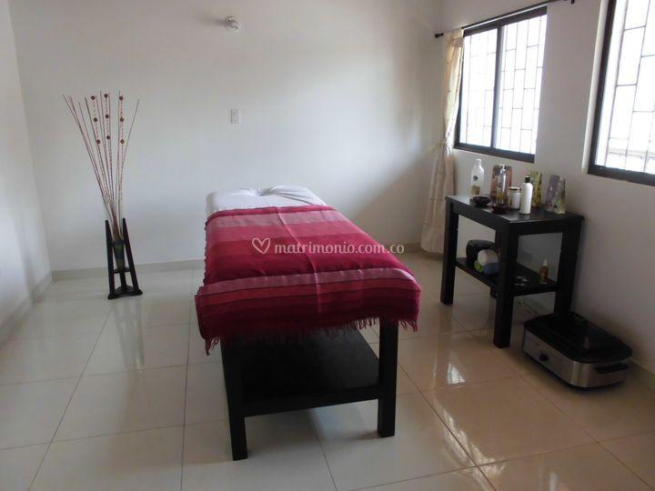 Área de masajes y terapias