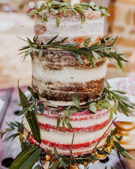 Nude cake de red velvet