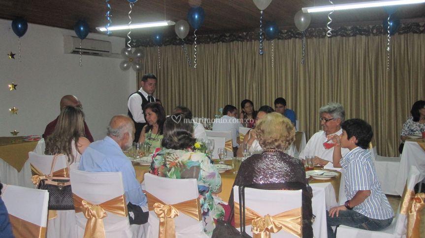 Celebración en salón el Boga