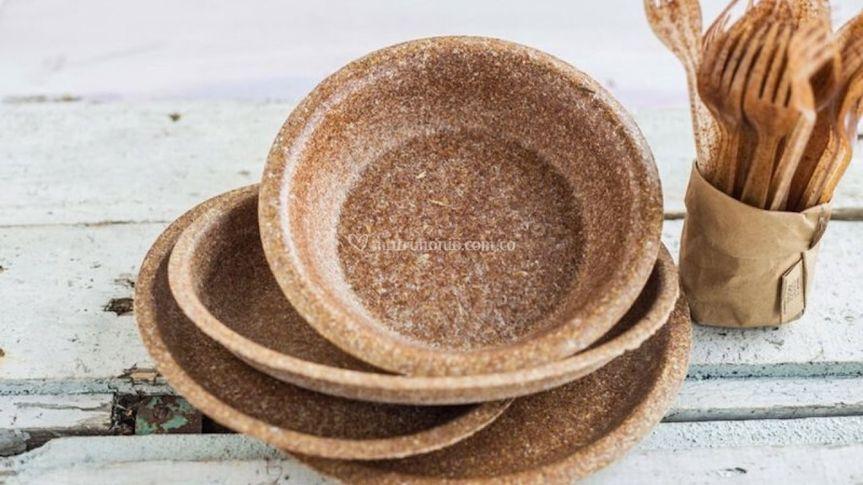 Platos de trigo Bio Bodas