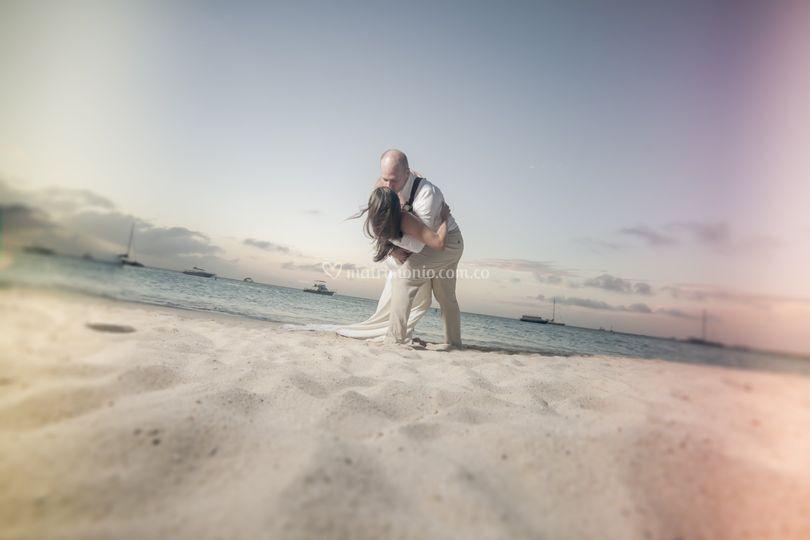 Beso y arena