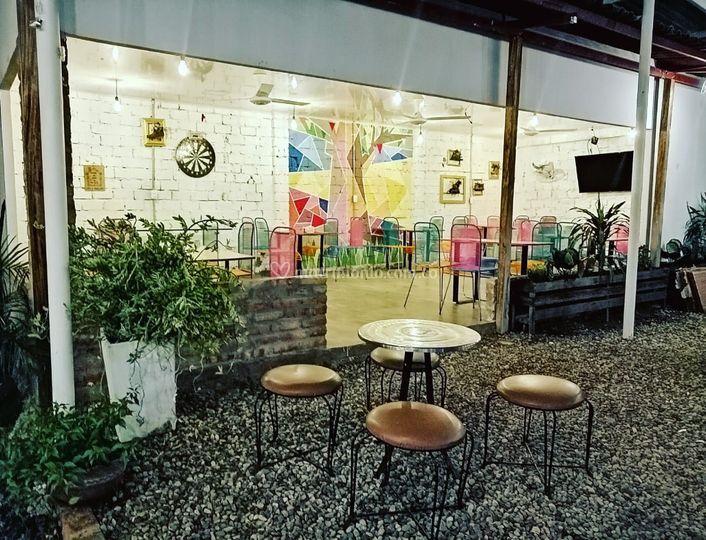 Salon con techo