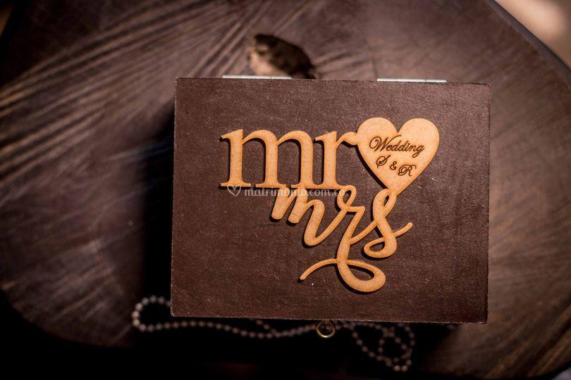 Caja de anillos de bodas